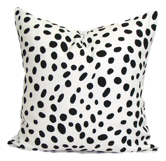 Photo 2 - Black polka dot pillow