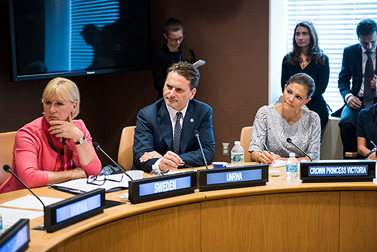 "photo kungahuset.se CP Victoria at the UN Generall Assembly Crown Princess attended the ""Ocean Conference"" held at the United Nations Headquarters in New York City"